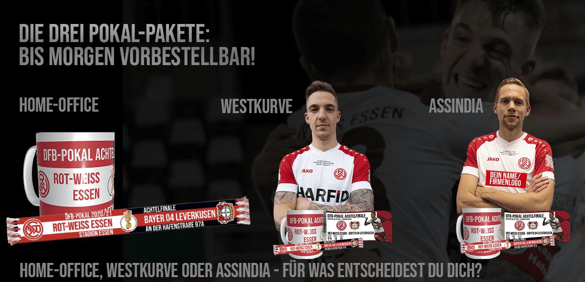 Chance nutzen: Nur noch heute lassen sich die drei Pokal-Pakete zum bevorstehenden DFB-Pokal-Achtelfinale gegen Bayer 04 Leverkusen ergattern.