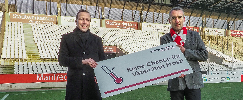 Lars Martin Klieve und Marcus Uhlig freuen sich über die neue Frostversicherung.
