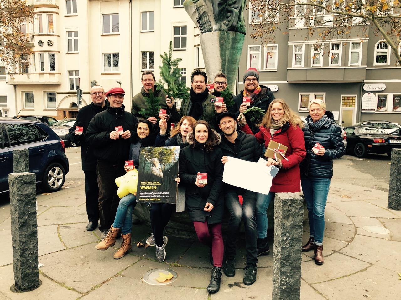 Den Zusammenhalt im Stadtteil stärken: Die Erlöse der Weihnachtsbaum Weitwurf Meisterschaft 2019 kommen den Essener Chancen zugute. (Foto: WWM19)