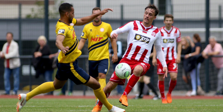 Die gute Leistung konnte die RWE-Offensive um Marcel Platzek leider nicht mit einem Tor krönen. (Foto: Endberg)