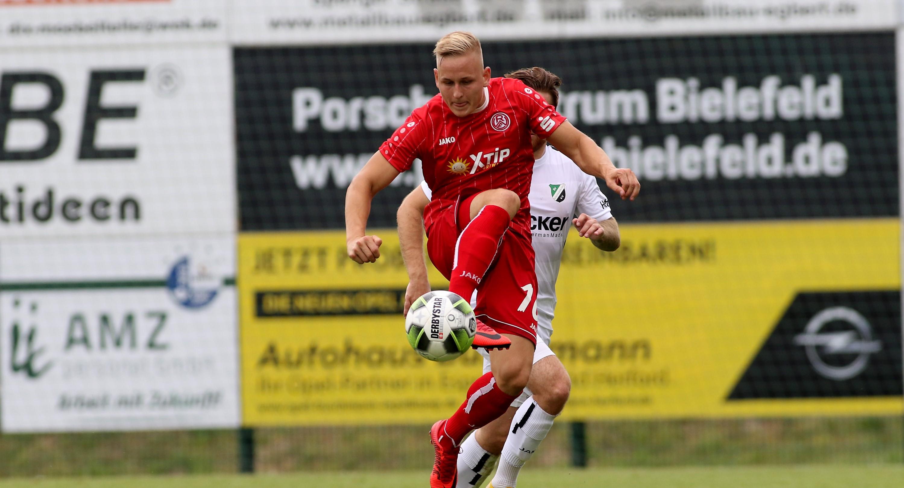 In Rödinghausen verpassten die Rot-Weissen die ersten Auswärtspunkte der Saison knapp. (Foto: Endberg)