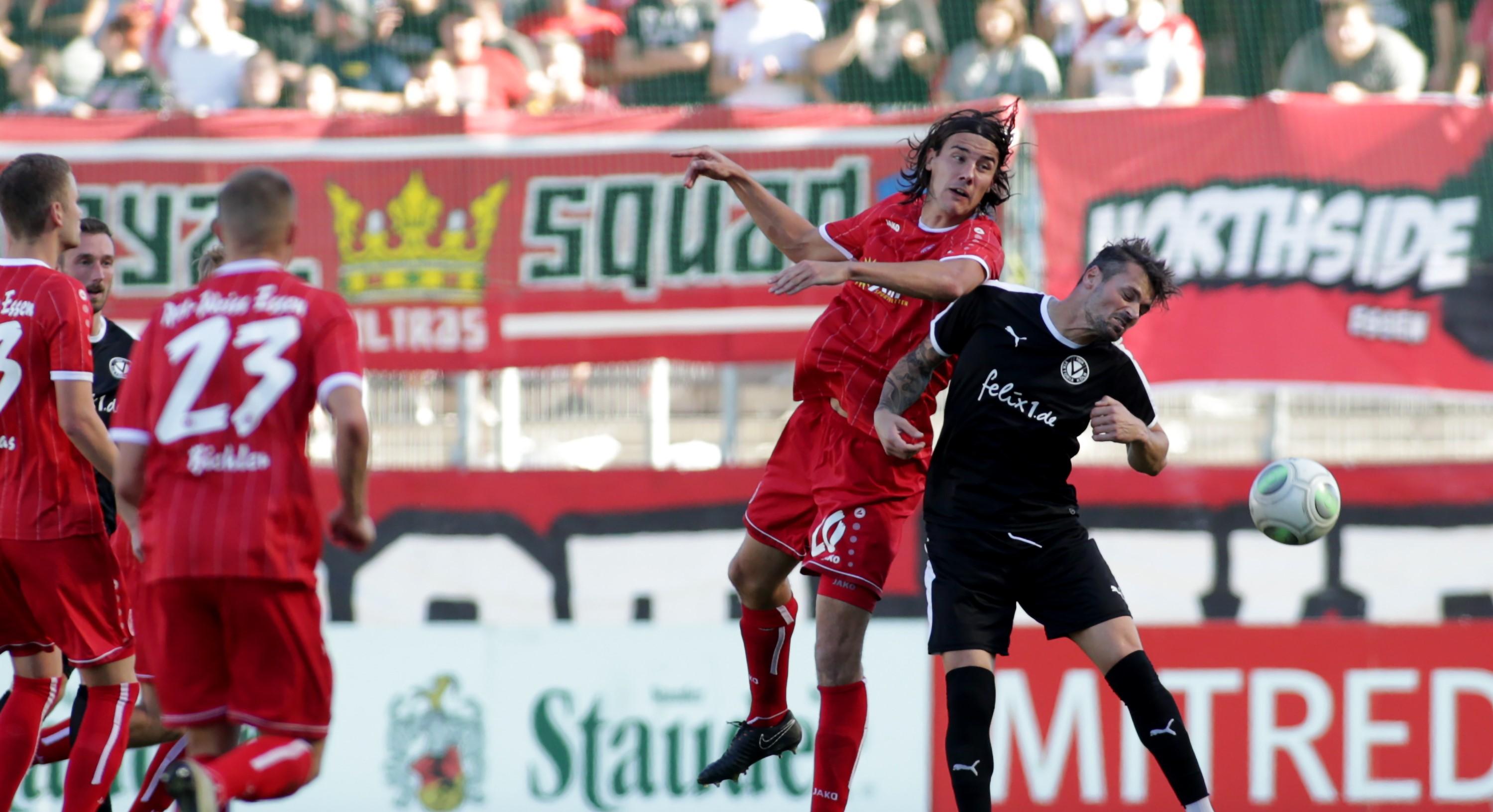 Gegen Viktoria Köln konnten die Rot-Weissen ihre Torchancen nicht nutzen. (Foto: Endberg)