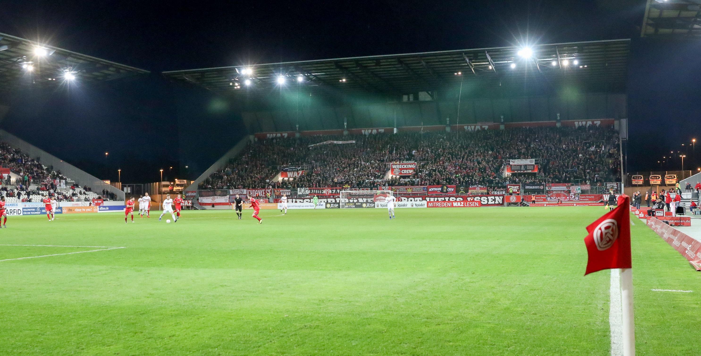 Am 29. April empfängt Rot-Weiss Essen die SG Wattenscheid 09 an der Hafenstraße. (Foto: Endberg)