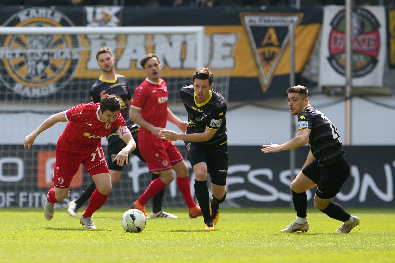 Mit 0:2 mussten sich die Rot-Weissen in Aachen geschlagen geben. (Foto: Endberg)
