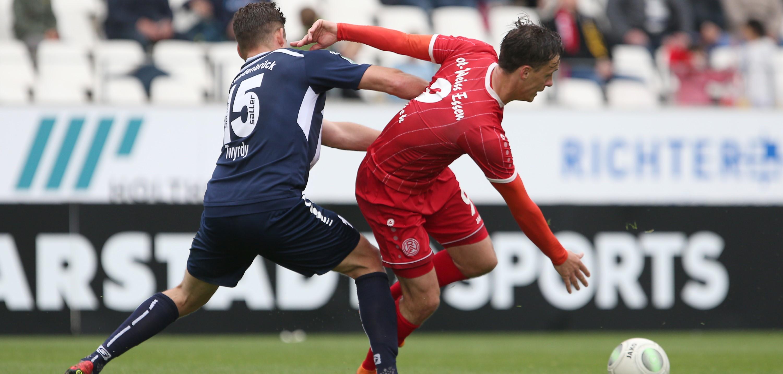 Im letzten Heimspiel der Saison unterlagen die Rot-Weissen mit 1:2. (Foto: Endberg)