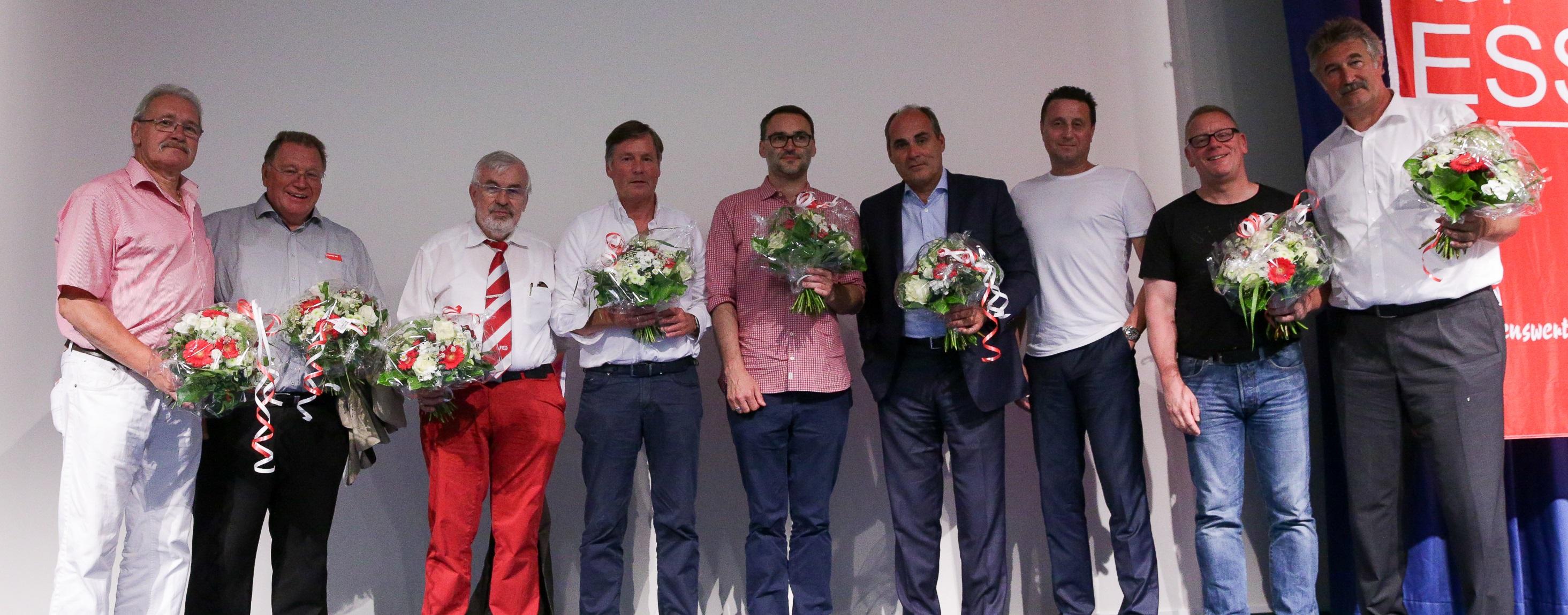 Der neue Aufsichtsrat von Rot-Weiss Essen. (Foto: Endberg)
