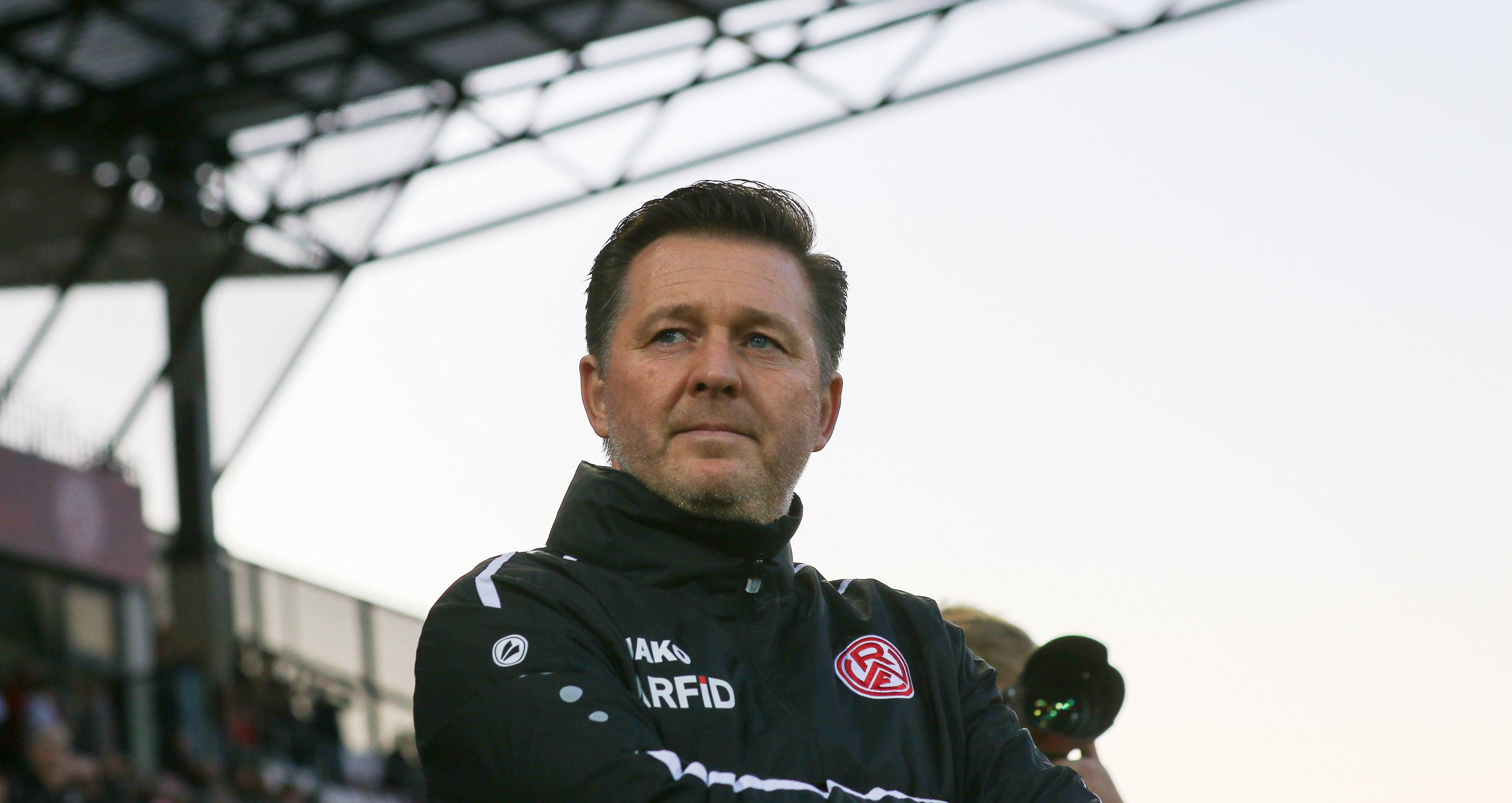Cheftrainer Christian Titz vor dem Heimspiel gegen Alemannia Aachen. (Foto:Endberg)