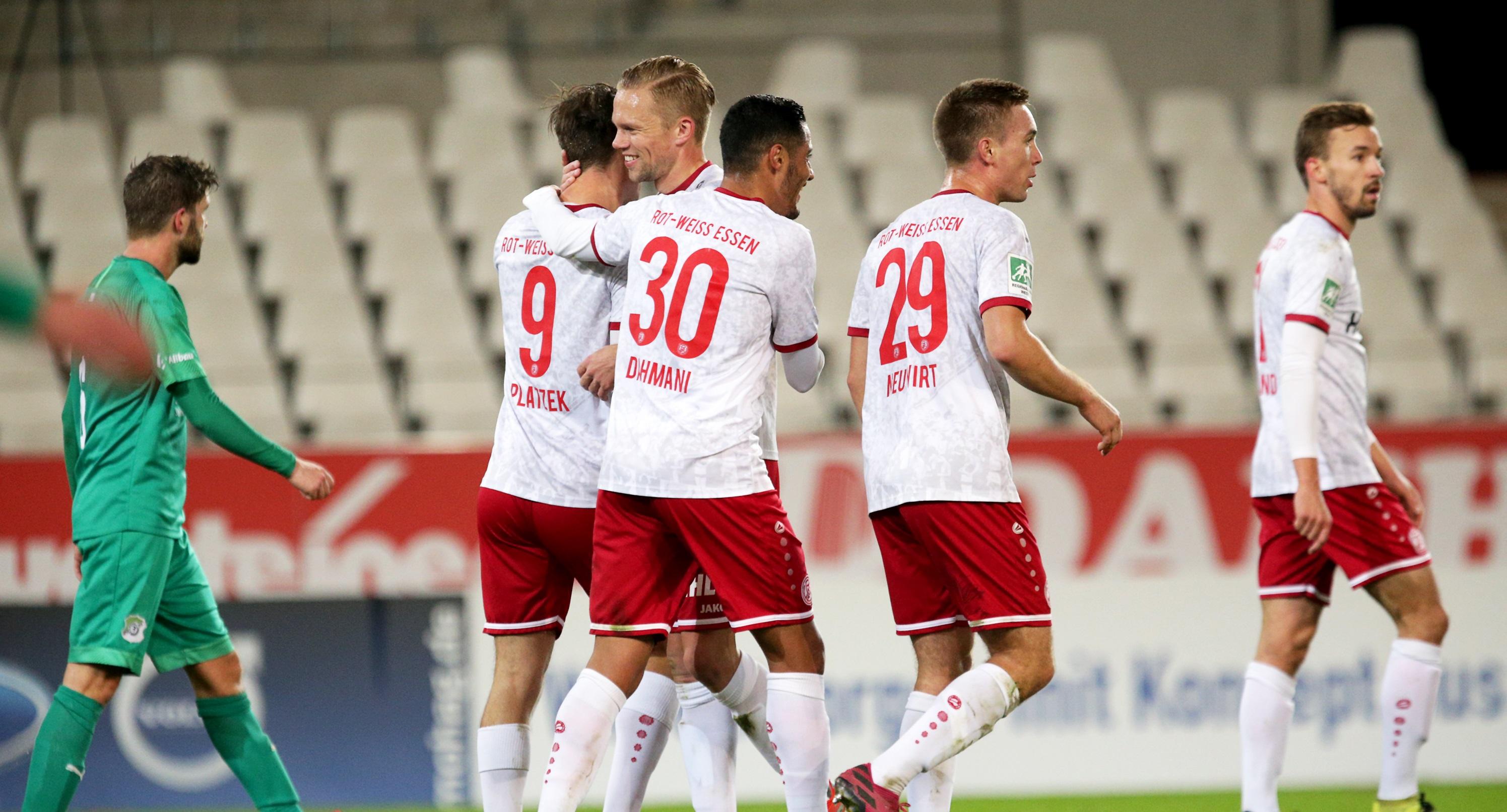 Ganze neun Treffer gelangen den Rot-Weissen gegen die Spielvereinigung Schonnebeck. (Foto: Endberg)