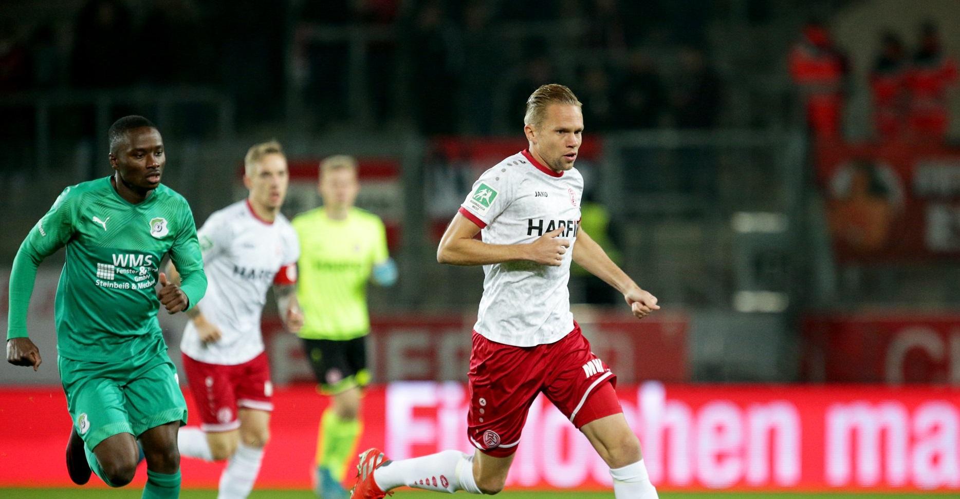 Rot-Weiss Essen erreicht das Viertelfinale im Niederrheinpokal. (Foto: Endberg)