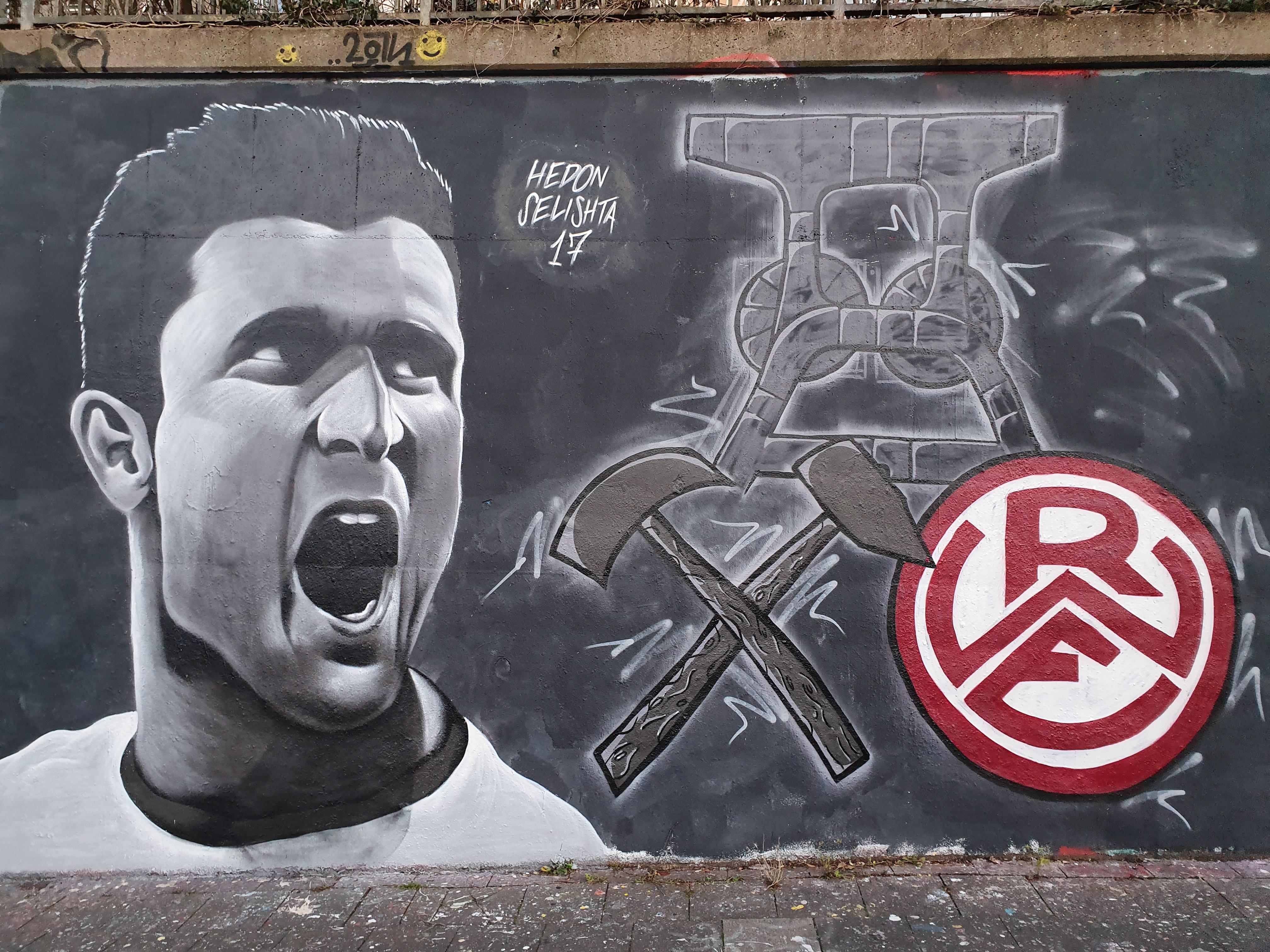 Ab heute können RWE-Fans ein individuelles Graffiti ersteigern. (Foto:Thomas Rohde)
