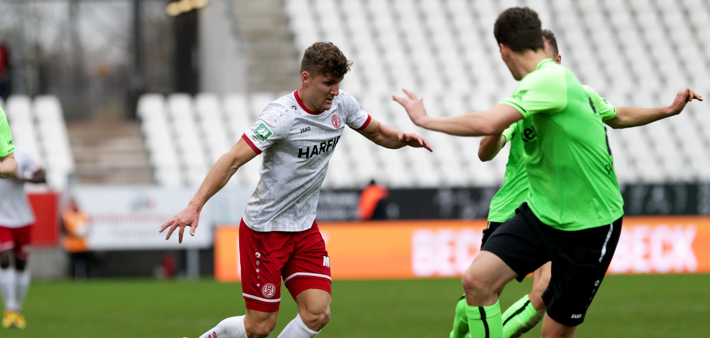 Rot-Weiss Essen hat sein Heimspiel gegen den SV Rödinghausen mit 2:0 verloren. (Foto:Endberg)