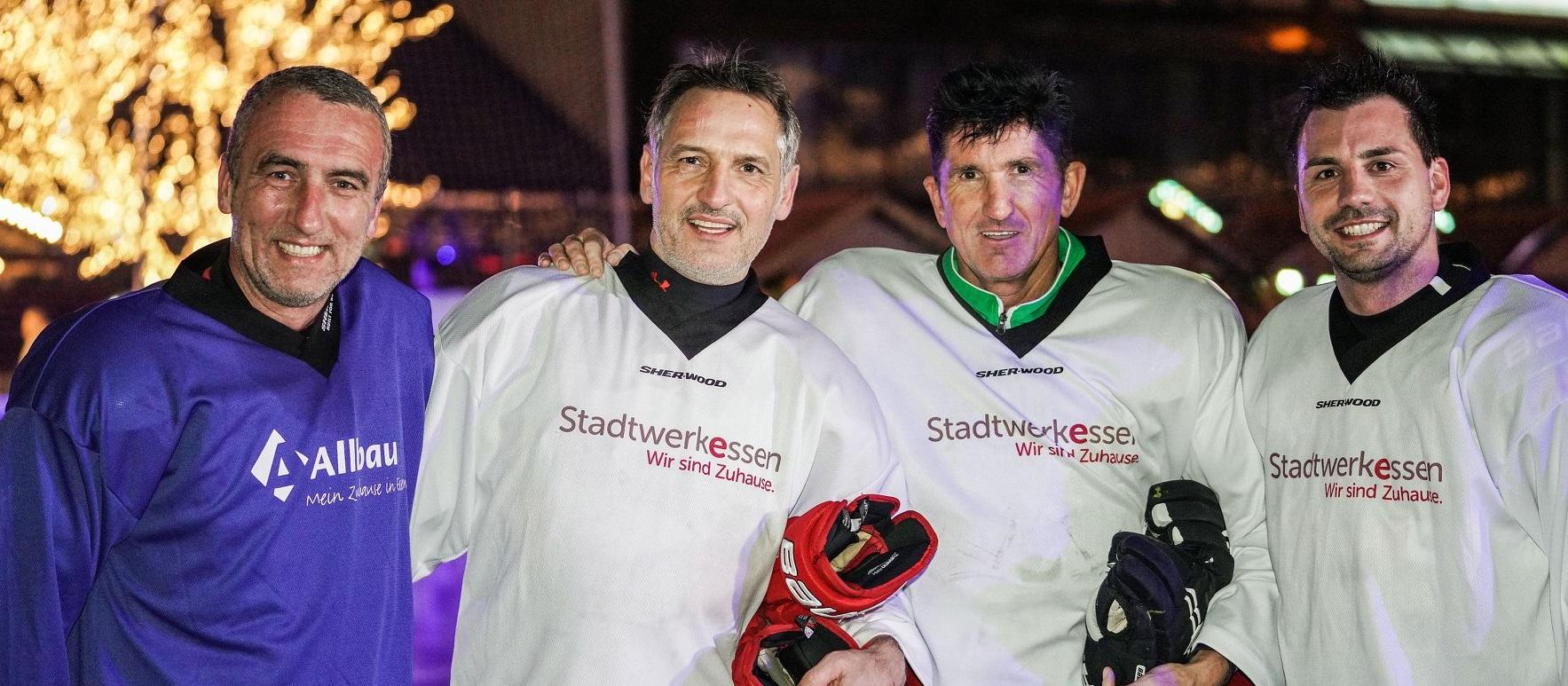 Marcus Uhlig stand diesmal für die Allbau Sporties auf dem Eis und musste sich mit Jörn Nowak und den Stadtwerke Allstars messen. (Foto:Gohl)