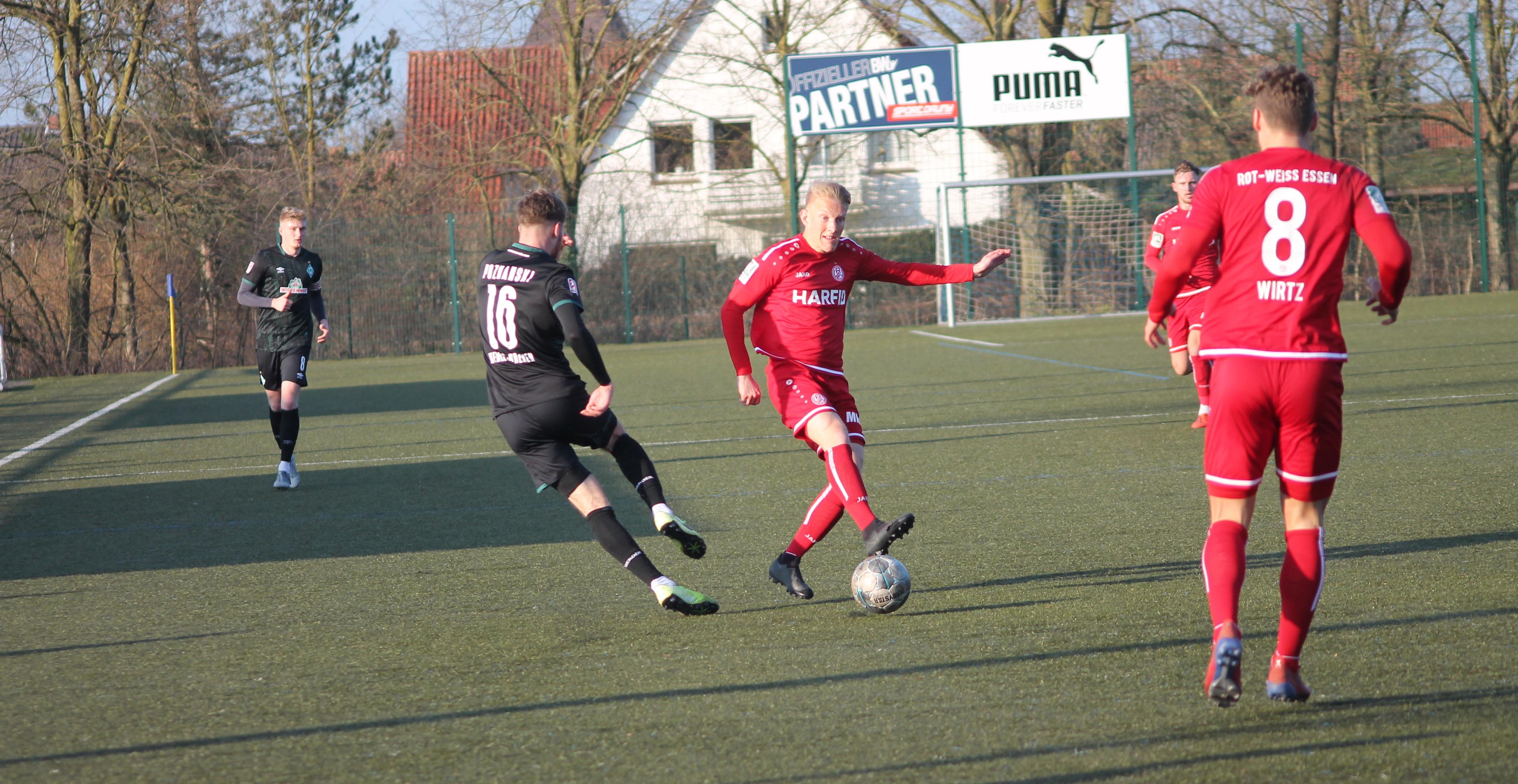 Das Testspiel gegen die U23 von Werder Bremen ging mit 0:2 verloren.