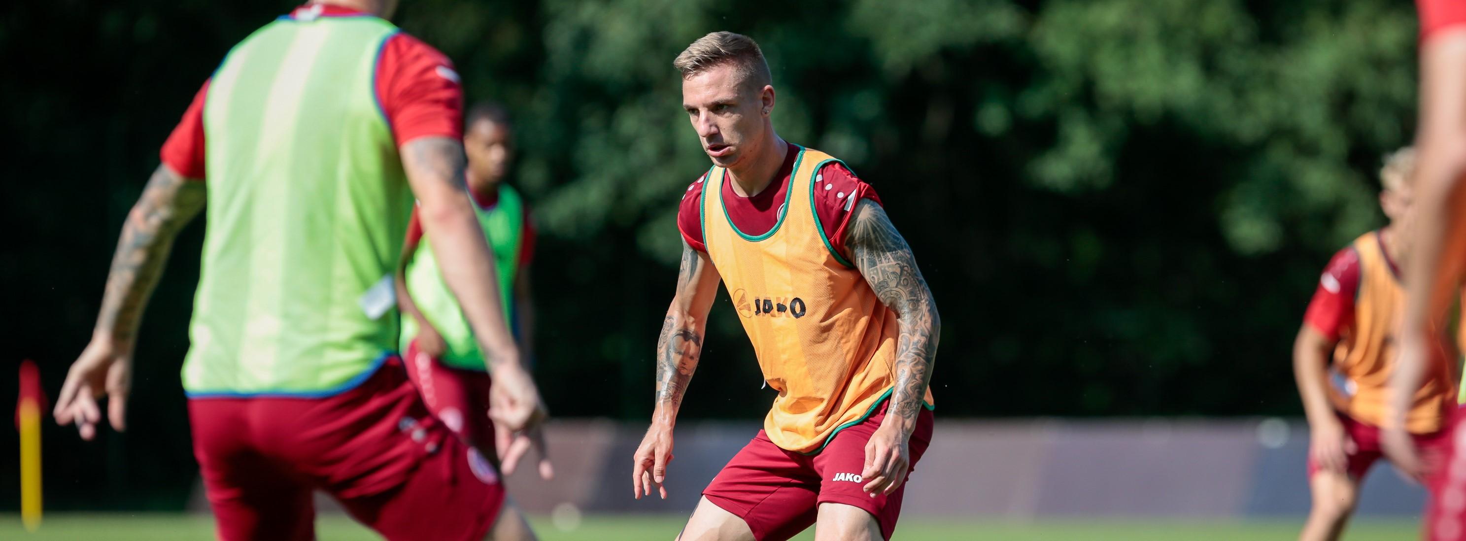 Marco Kehl-Gomez ist auch in der neuen Saison Kapitän von RWE. (Foto: Endberg)