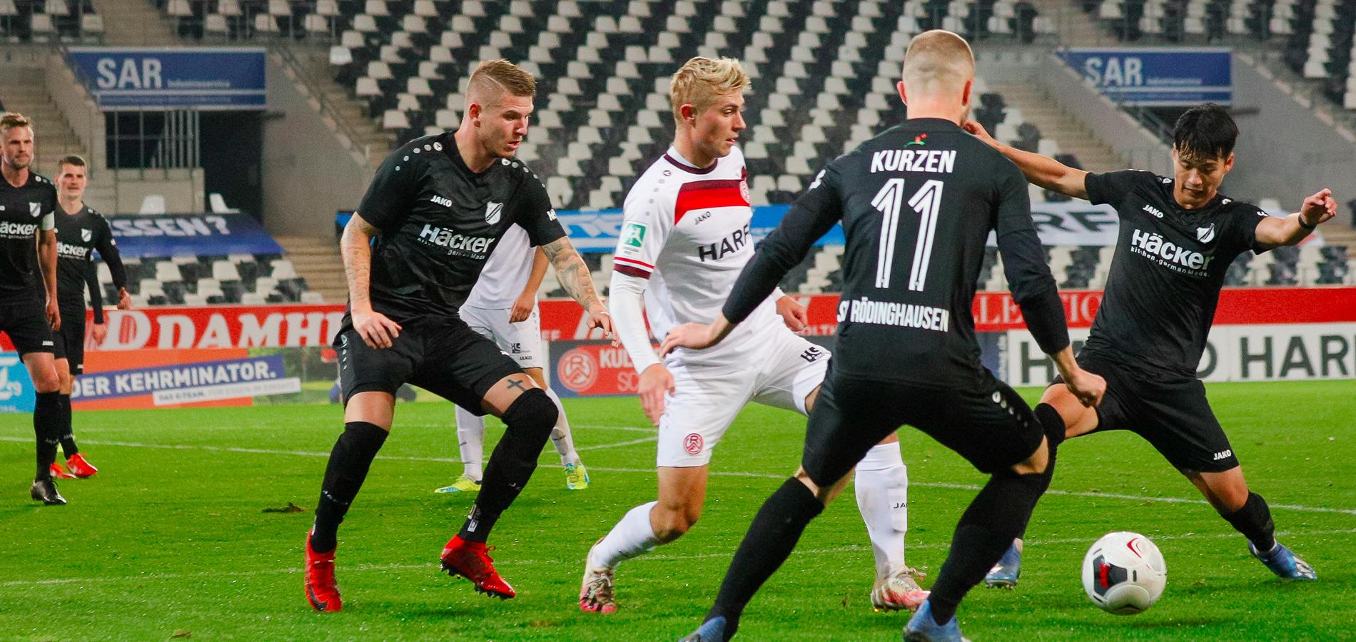 Für Cedric Harenbrock (Foto) und RWE geht es gegen den SV Rödinghausen schon eine Stunde früher los als ursprünglich angesetzt. (Foto: Endberg)