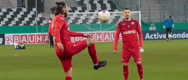 Neben Felix Backszat (l.) und Steven Lewerenz (r.) werden auch Alexander Hahn und Maximilian Pronichev die Hafenstraße verlassen. (Foto: Endberg)