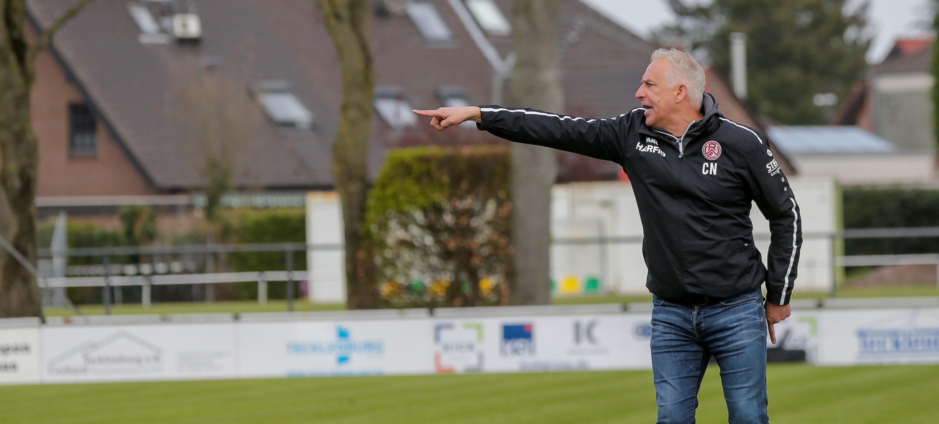 """""""Weiter Gas geben und so viele Punkte wie möglich holen"""": RWE-Trainer Christian Neidhart. (Foto: Endberg)"""