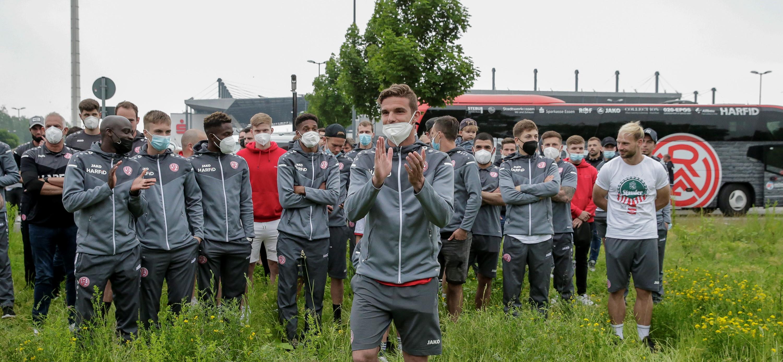 Zehn Jahre in rot-weiss - und alles begann mit dem DFB-Pokalspiel gegen Union Berlin. (Foto: Endberg)