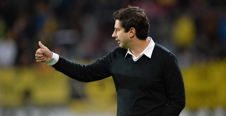 Argirios Giannikis vor dem anstehenden Heimspiel gegen Rot-Weiß Oberhausen. (Foto: Tillmann)