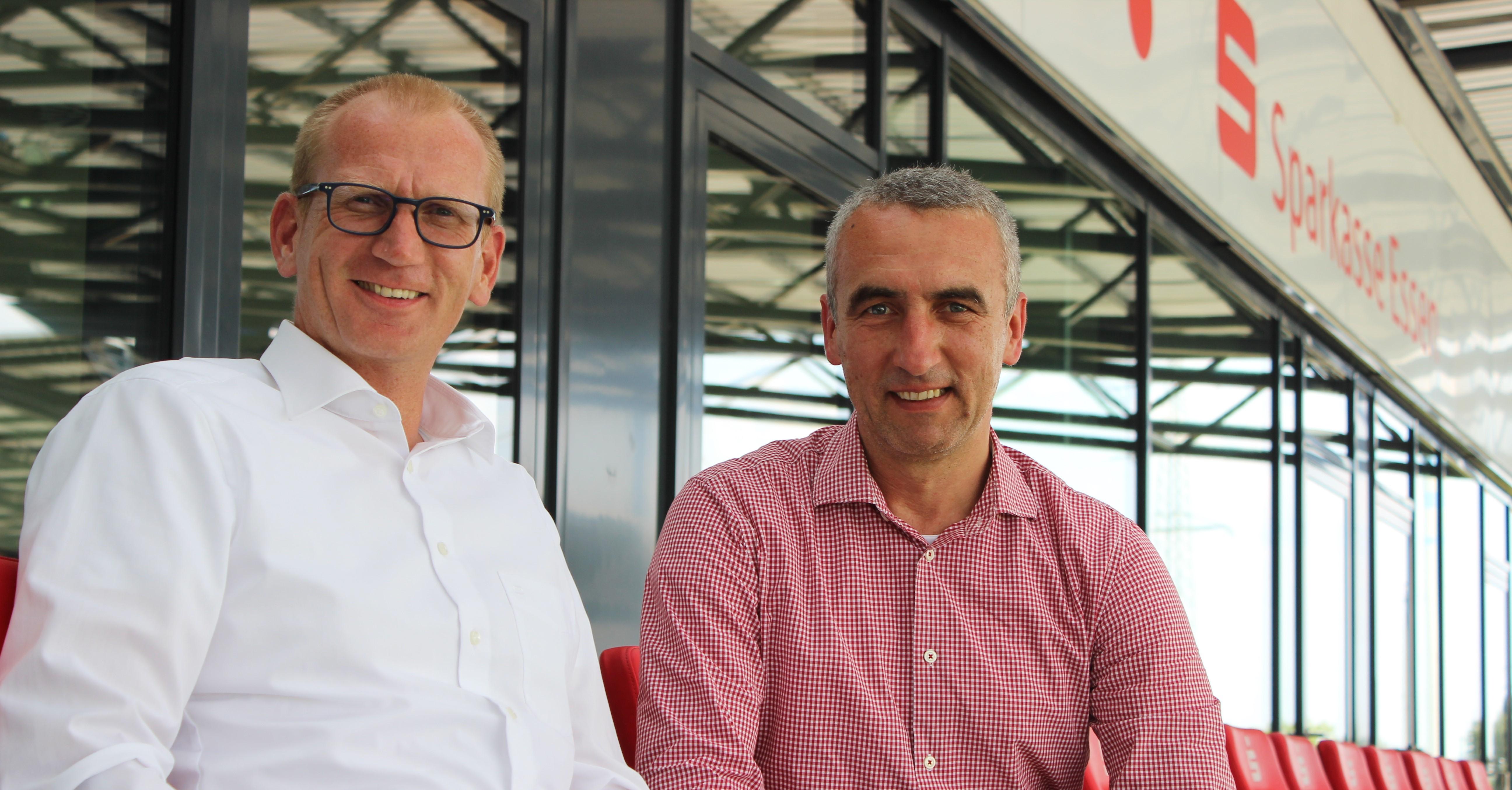Oliver Bohnenkamp (l.) und die Sparkasse Essen bleiben rot-weisser Premium-Partner. (Foto: RWE)