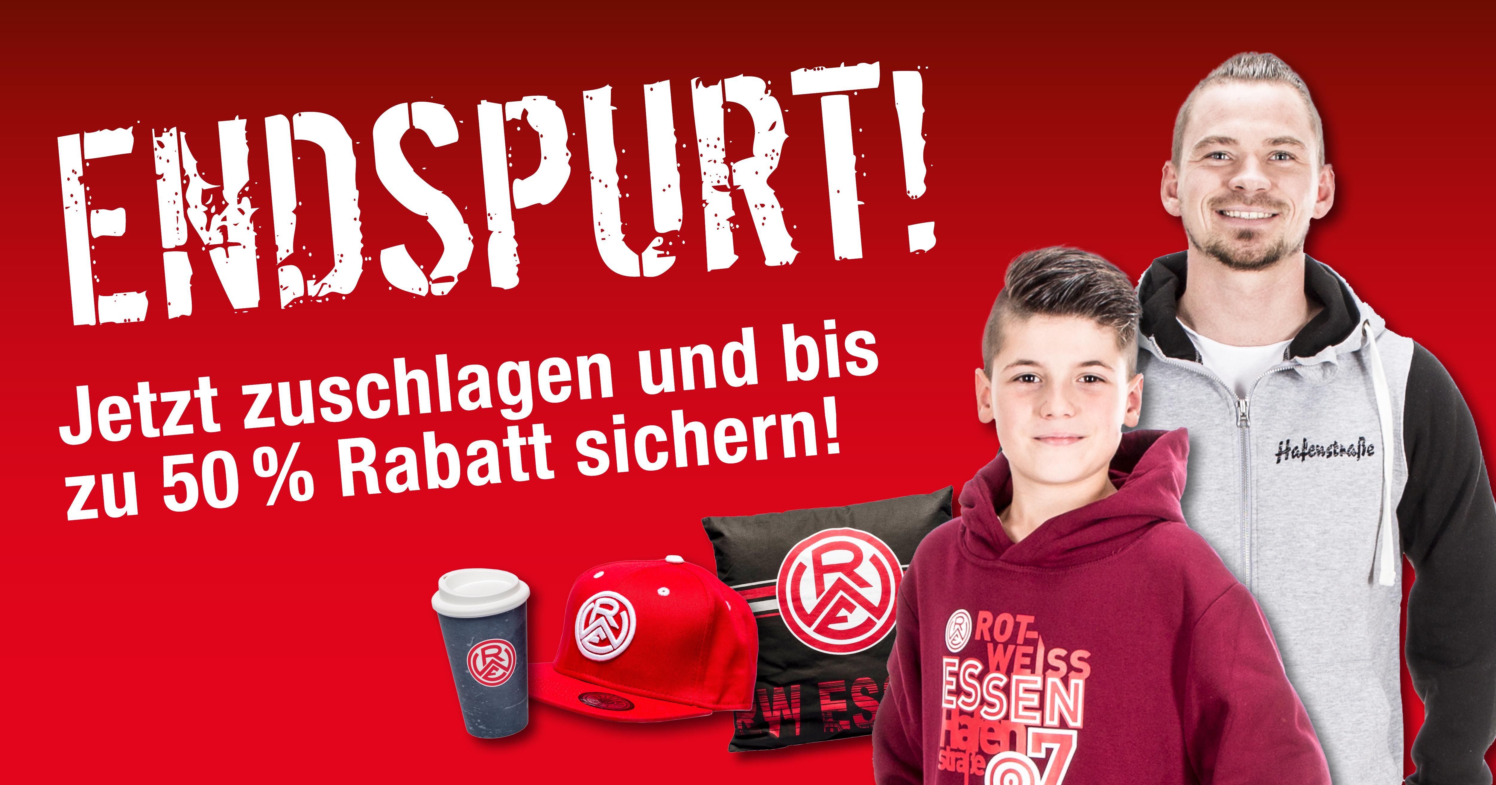 Endspurt im Fanshop an der Hafenstraße!