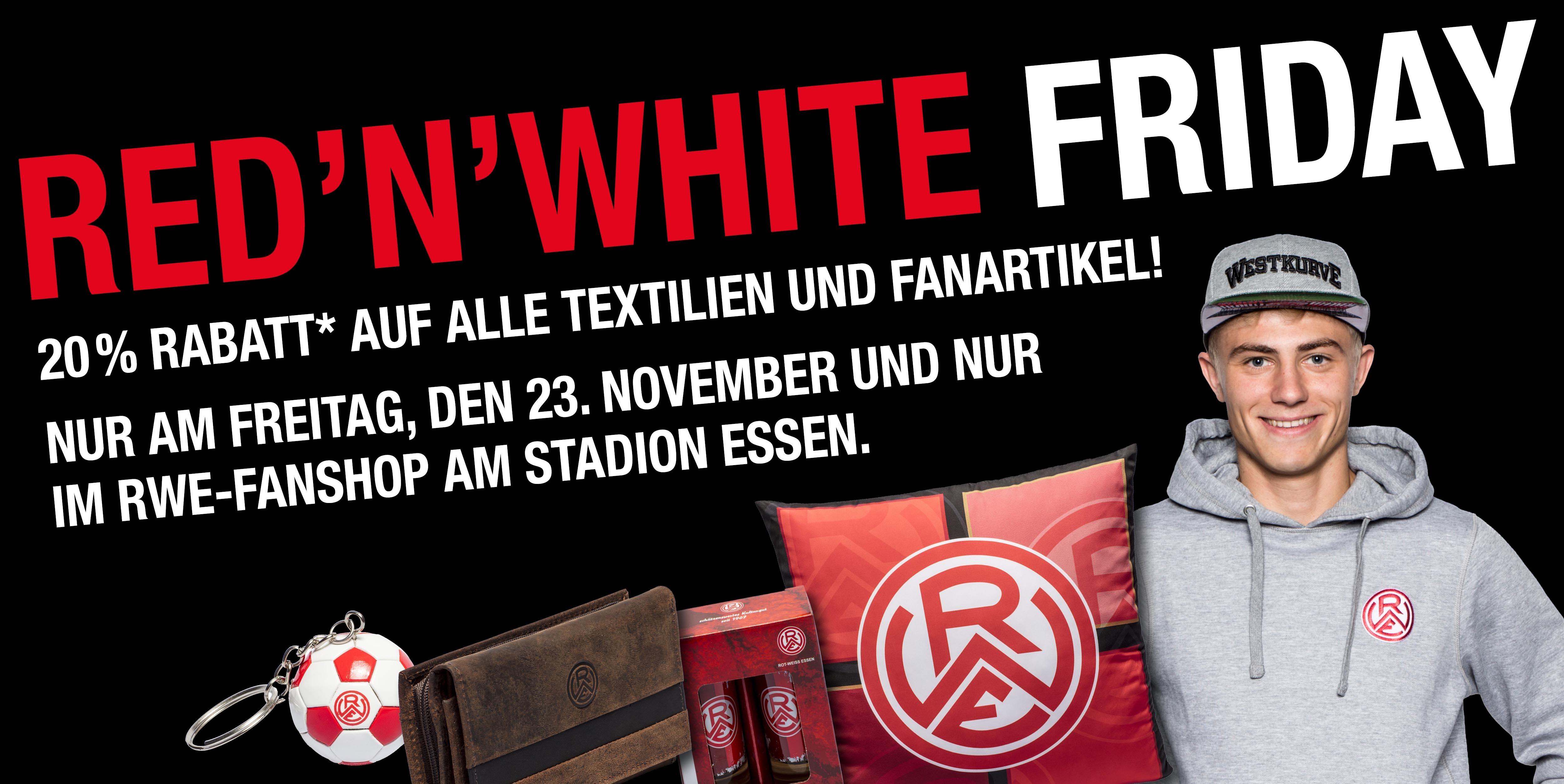 Morgen erwarten die Fans dicke Rabatte im Fanshop an der Hafenstraße.