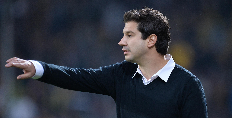 RWE-Chef-Trainer Argirios Giannikis im Interview vor dem Spiel gegen den Bonner SC.