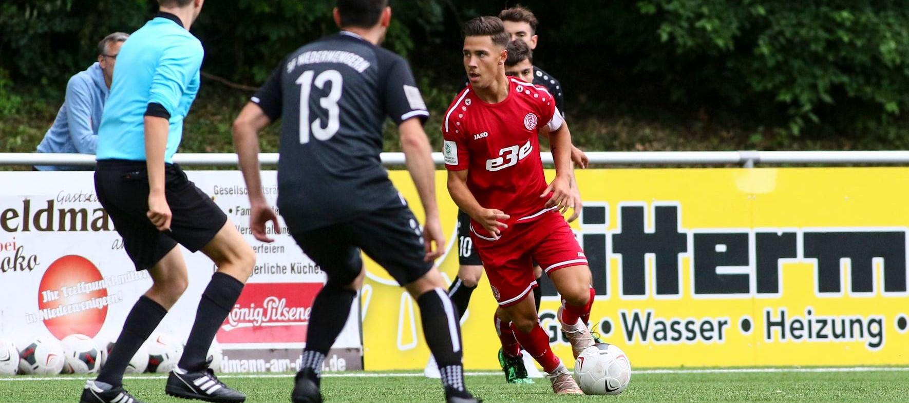 U19-Kapitän Guiliano Zimmerling im Testduell mit den Sportfreunden Niederwenigern. (Foto: Breilmannswiese)