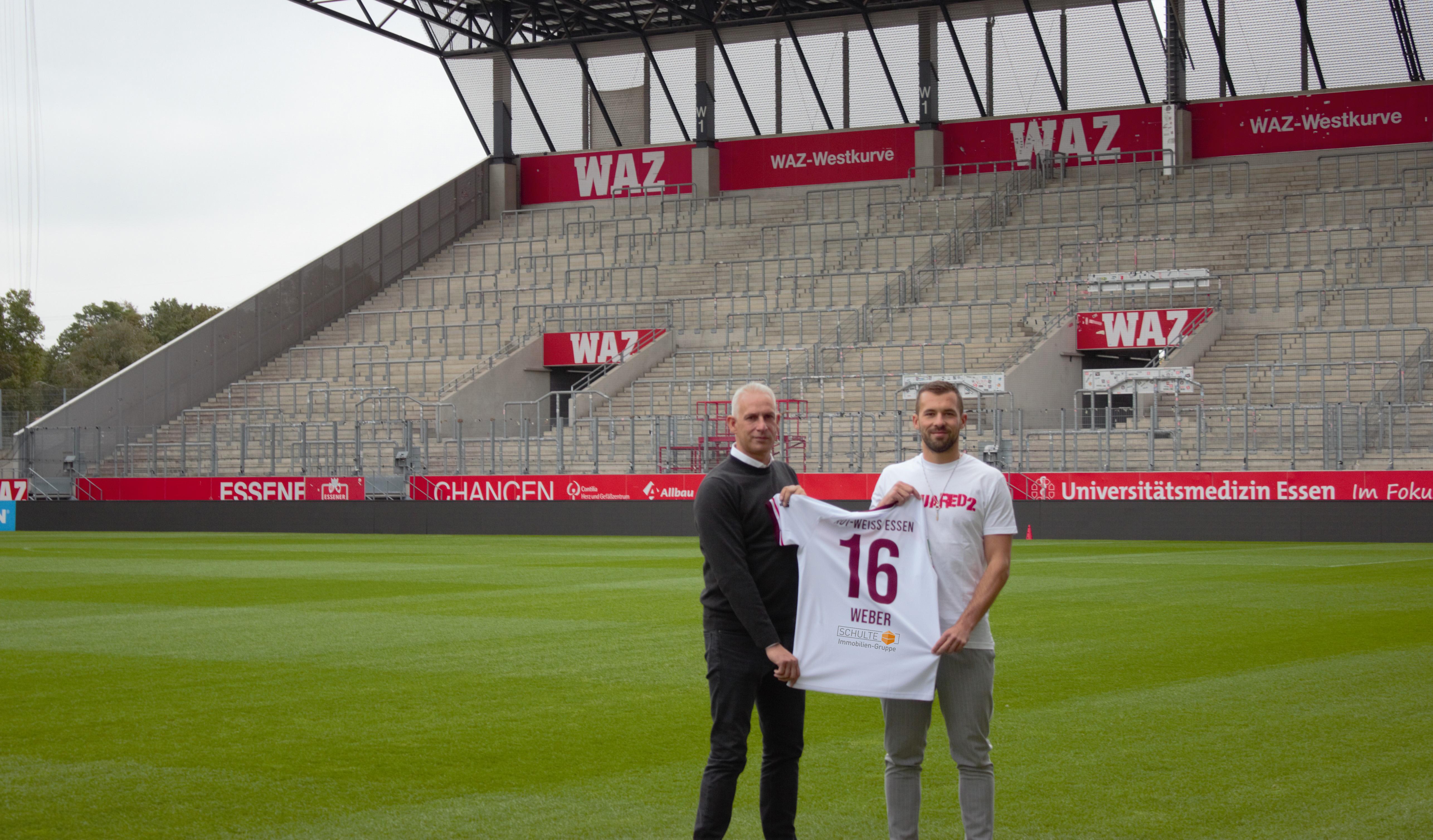 Felix Weber läuft für RWE mit der Rückennummer 16 auf.