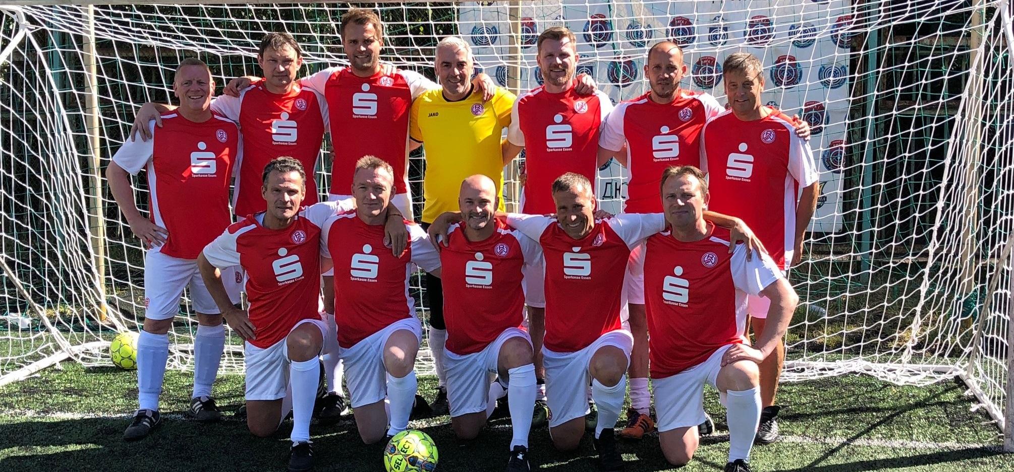 Die rot-weisse Traditionsmannschaft spielt aktuell ein Turnier in Kiew.