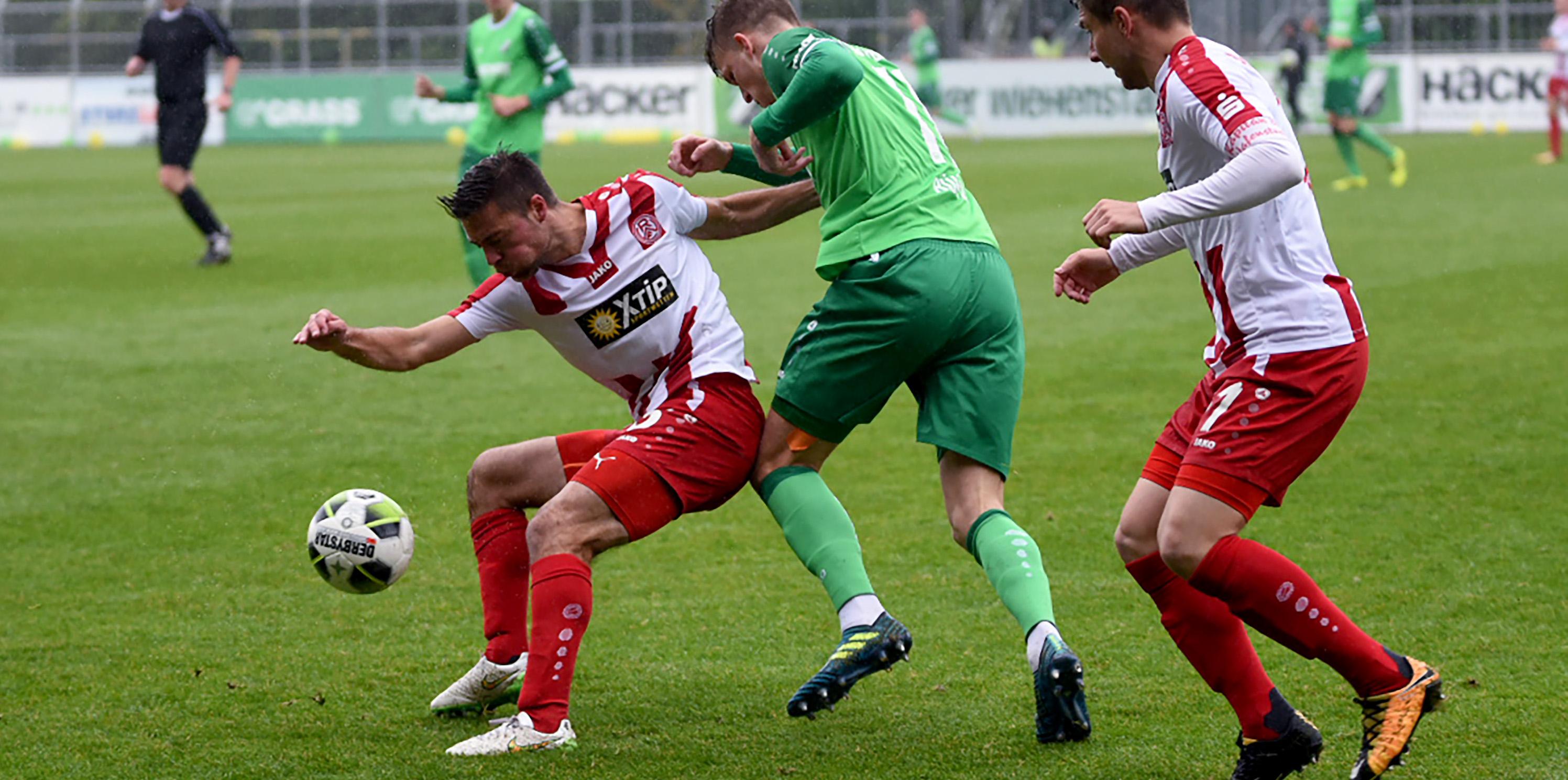 Trotz der Aufholjagd mussten die Rot-Weissen die Heimreise ohne Punkte antreten. (Foto: Rotzoll)