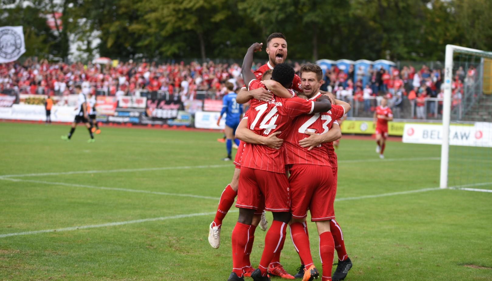 Rot-Weisser Topstart: Nach vier Minuten brachte Florian Bichler seiner Mannschaft in Führung. (Foto: Rotzoll)