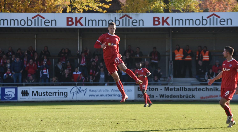 Lukas Scepanik erzielte die 1:0-Führung in Wiedenbrück. (Foto: Rotzoll)