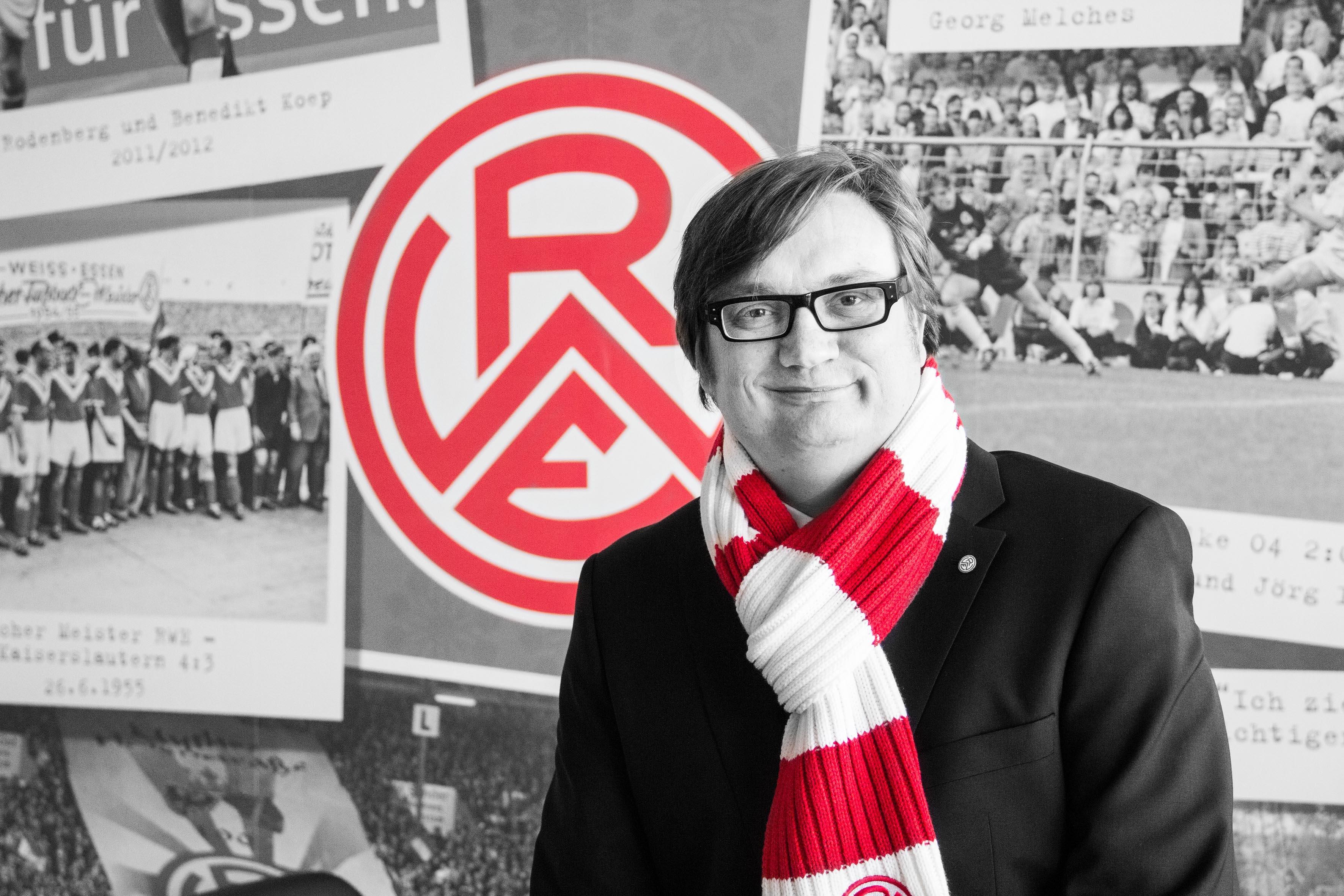 Das Vorwort des 1. Vorsitzenden Prof. Dr. Michael Welling zum Spiel gegen Rot-Weiß Oberhausen. (Foto: RWE)