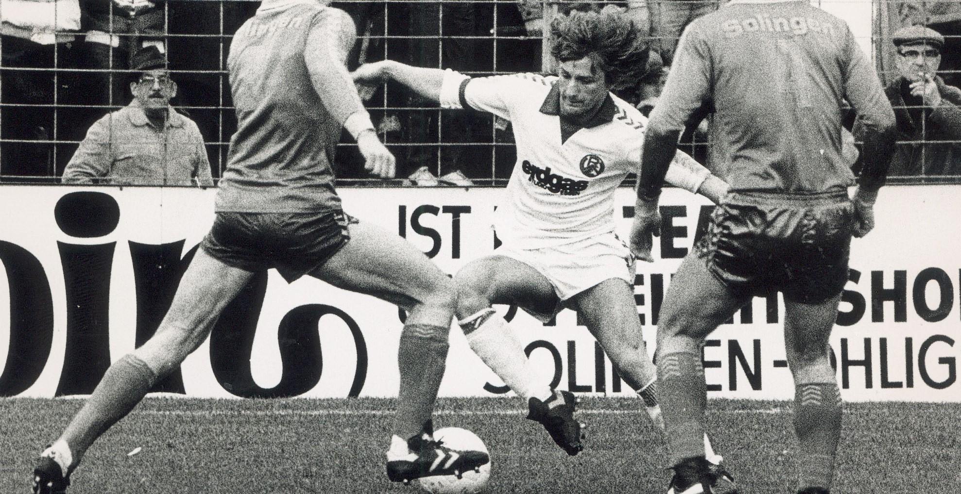 Von 1976 bis 1981 ging RWE-Nachwuchstalent Frank Mill für die Lizenzmannschaft auf Torjagd.