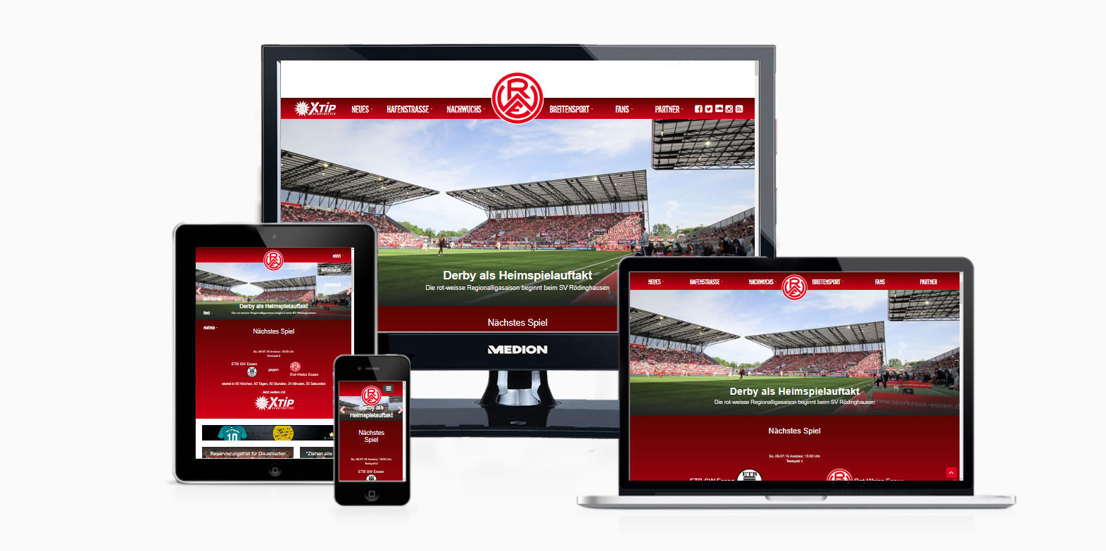 Neue Saison - neue Homepage: Auch die Darstellung auf sämtlichen Endgeräten wurde angepasst und aktualisiert.