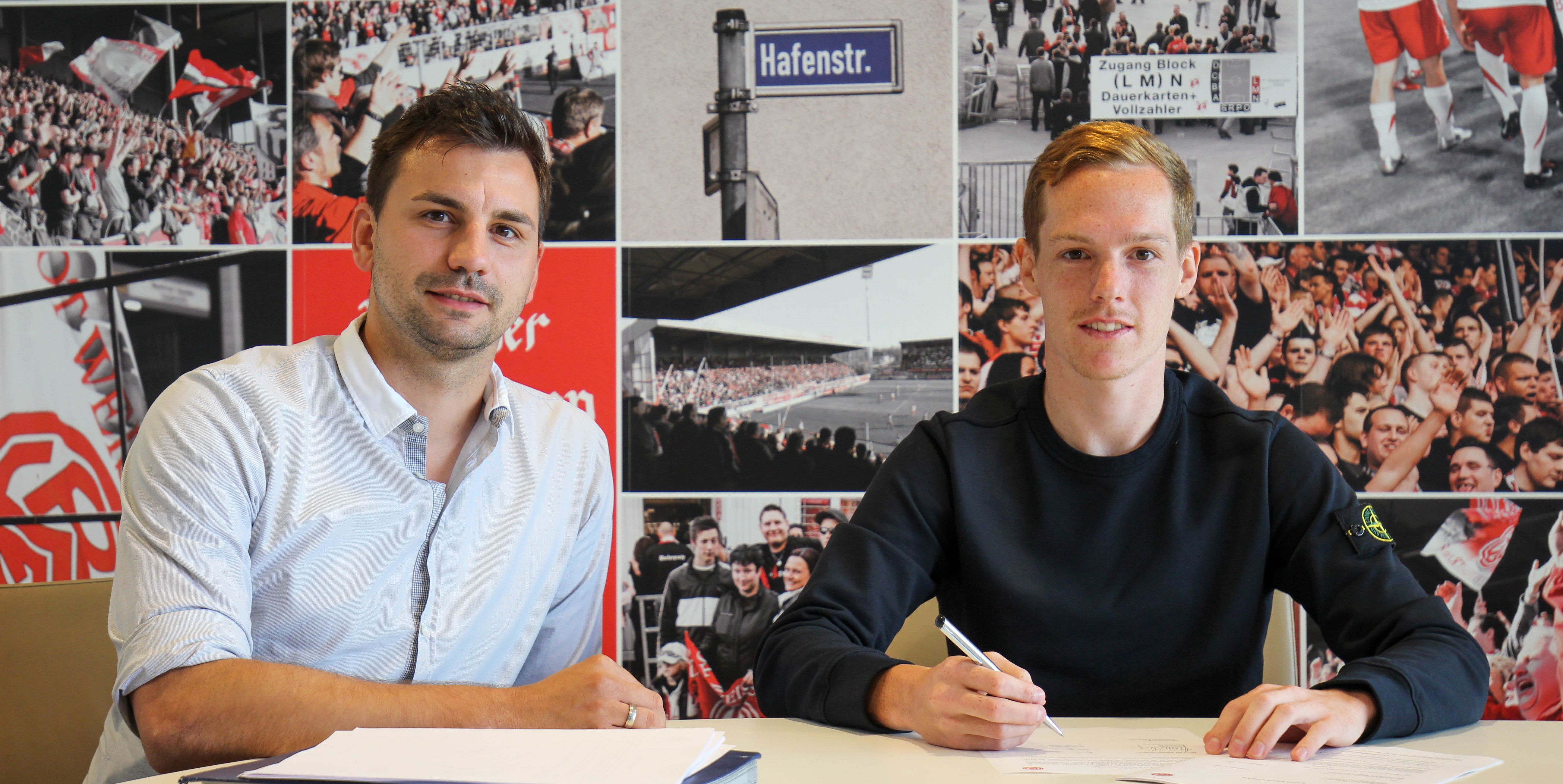 Ein weiteres neues Gesicht an der Hafenstraße: Jan-Lucas Dorow läuft zukünftig für Rot-Weiss Essen auf.