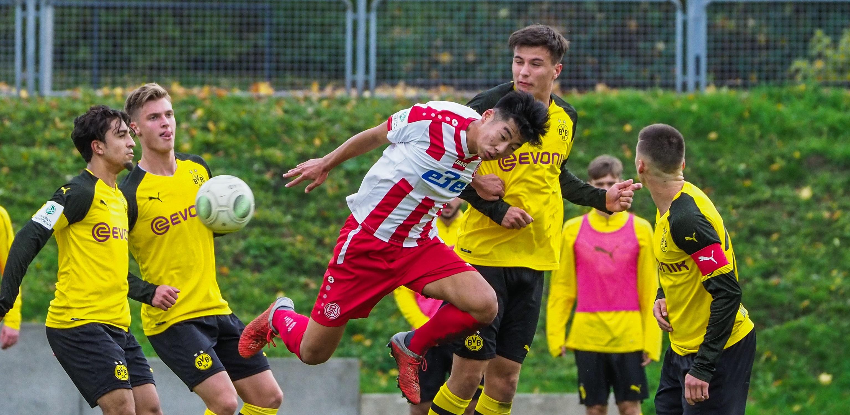 Im Hinspiel musste der rot-weisse Nachwuchs ein 1:3 gegen Borussia Dortmund hinnehmen. (Foto: Gohl)