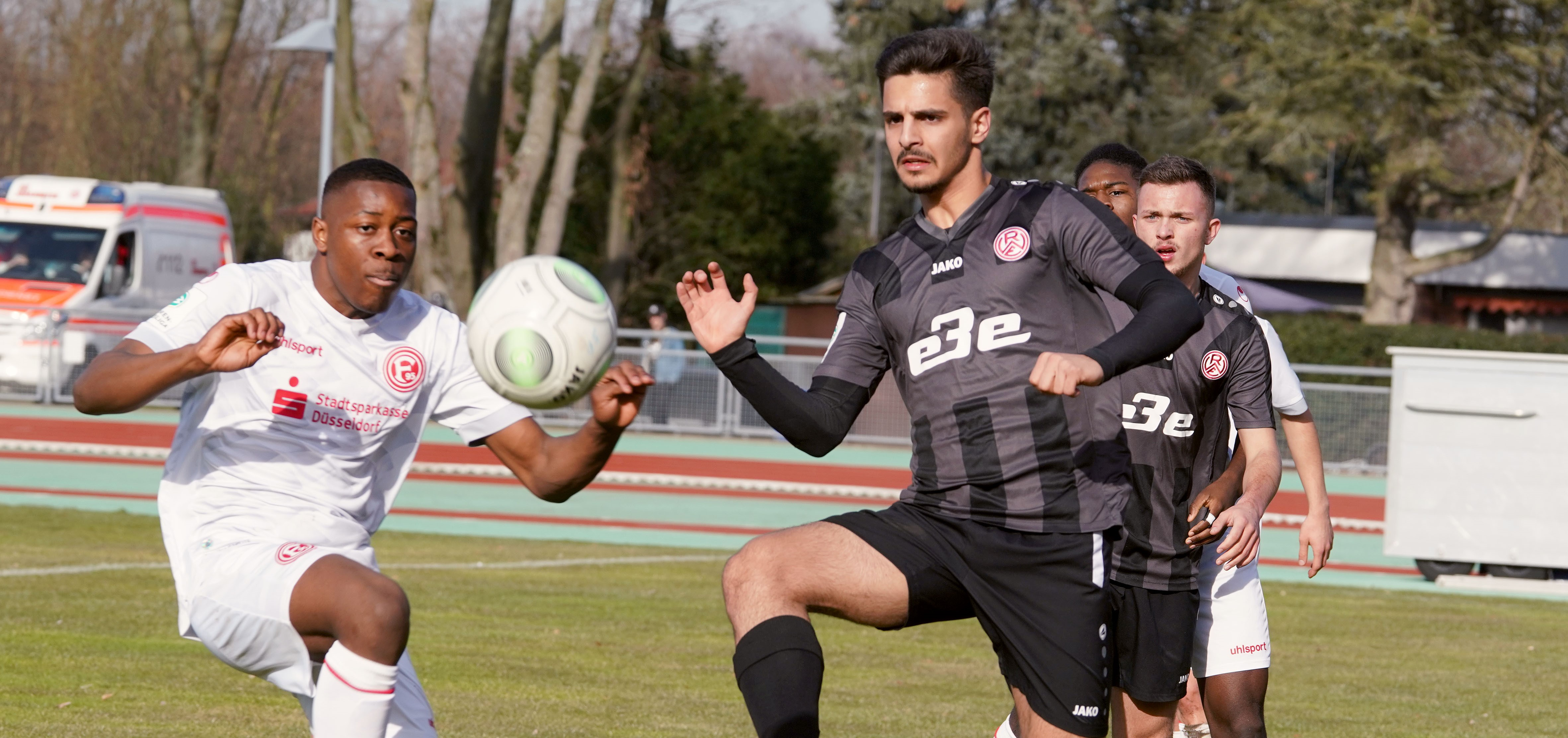 Die rot-weisse U19 unterlag Fortuna Düsseldorf mit 0:1. (Foto: Gohl)