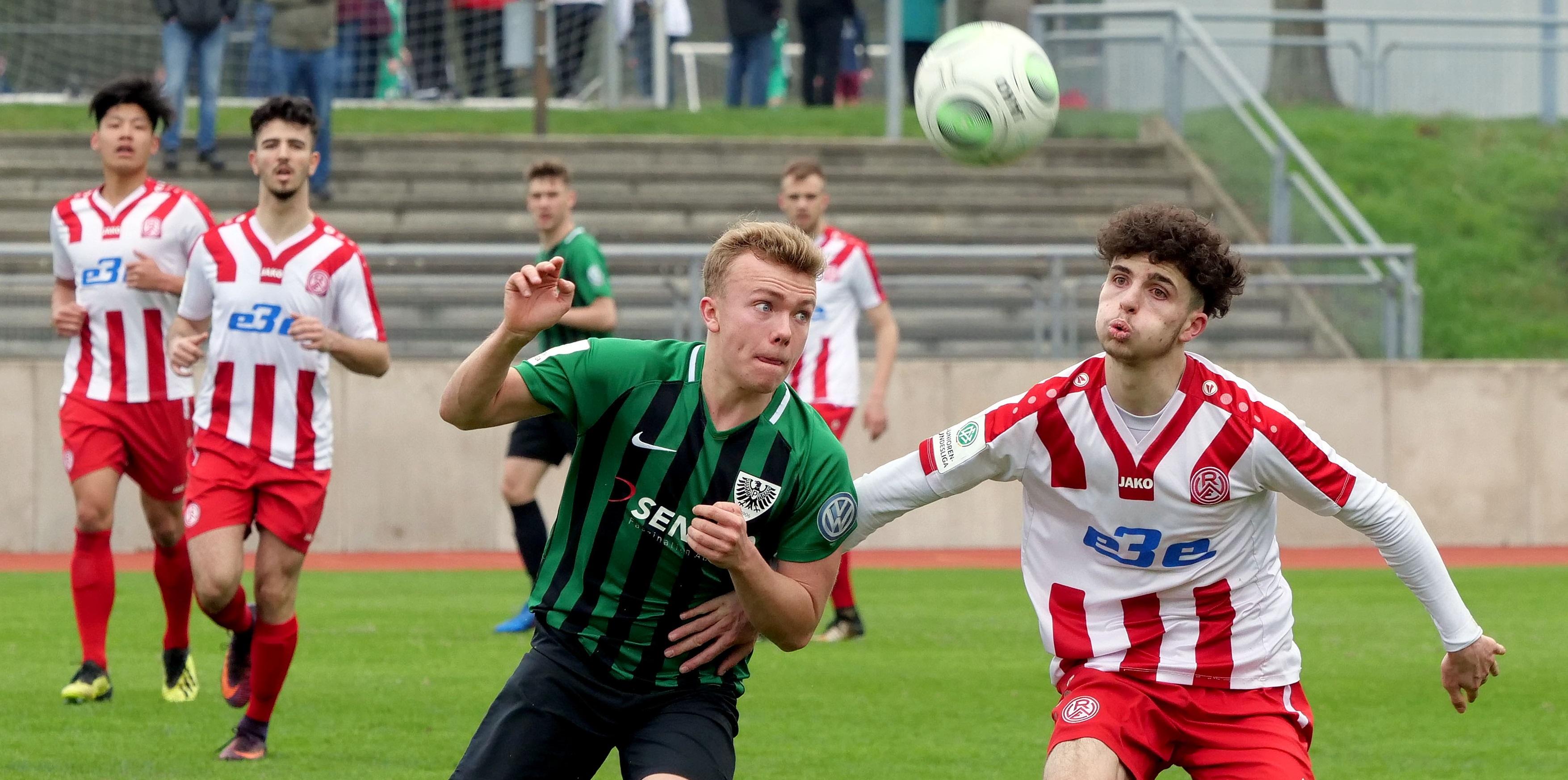 Am Wochenende musste sich die U19 gegen den FC Schalke 04 geschlagen geben. (Foto: Gohl)
