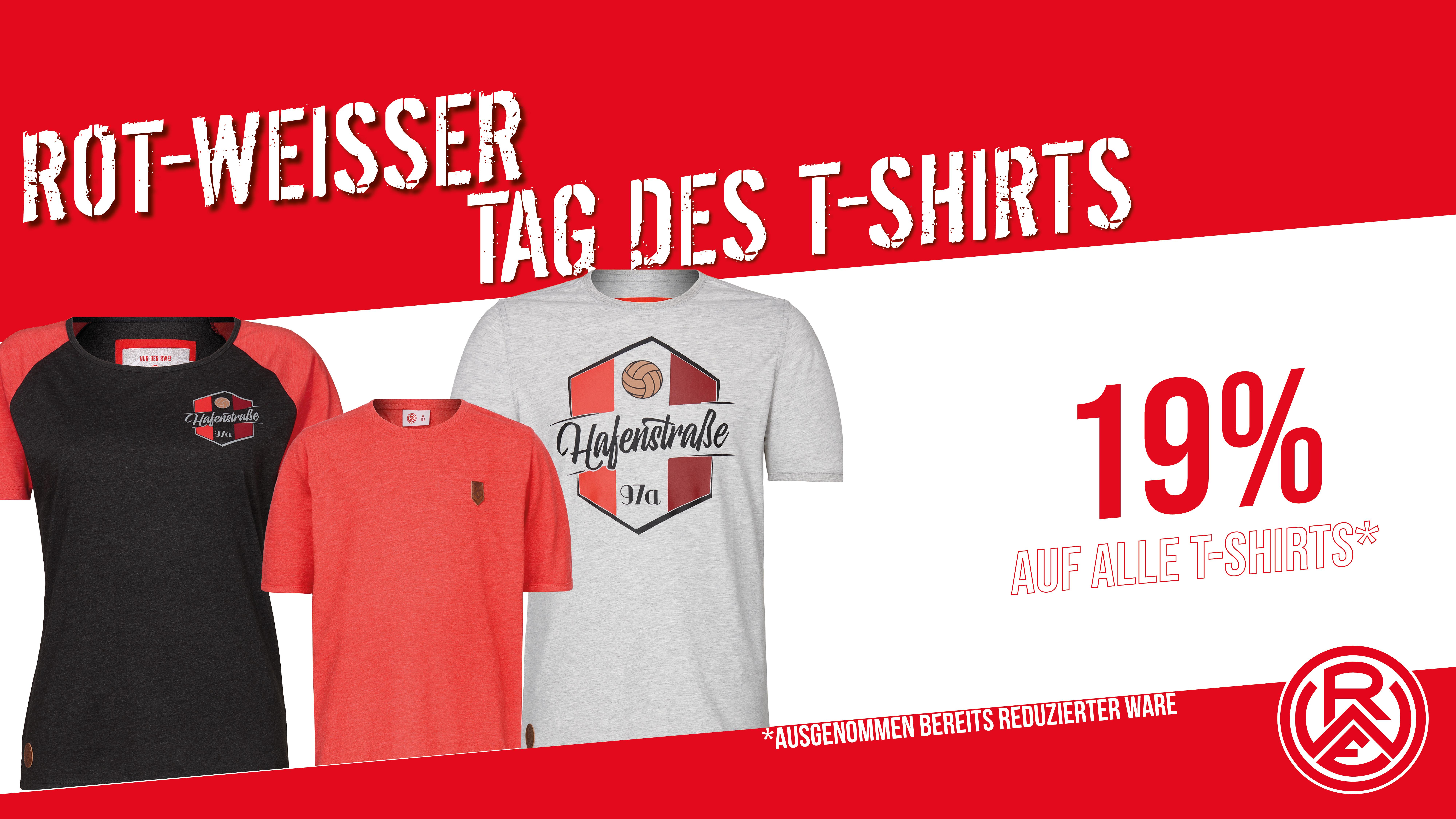 Tag des T-Shirts im RWE-Onlineshop, sowie im Fanshop an der Hafenstraße.