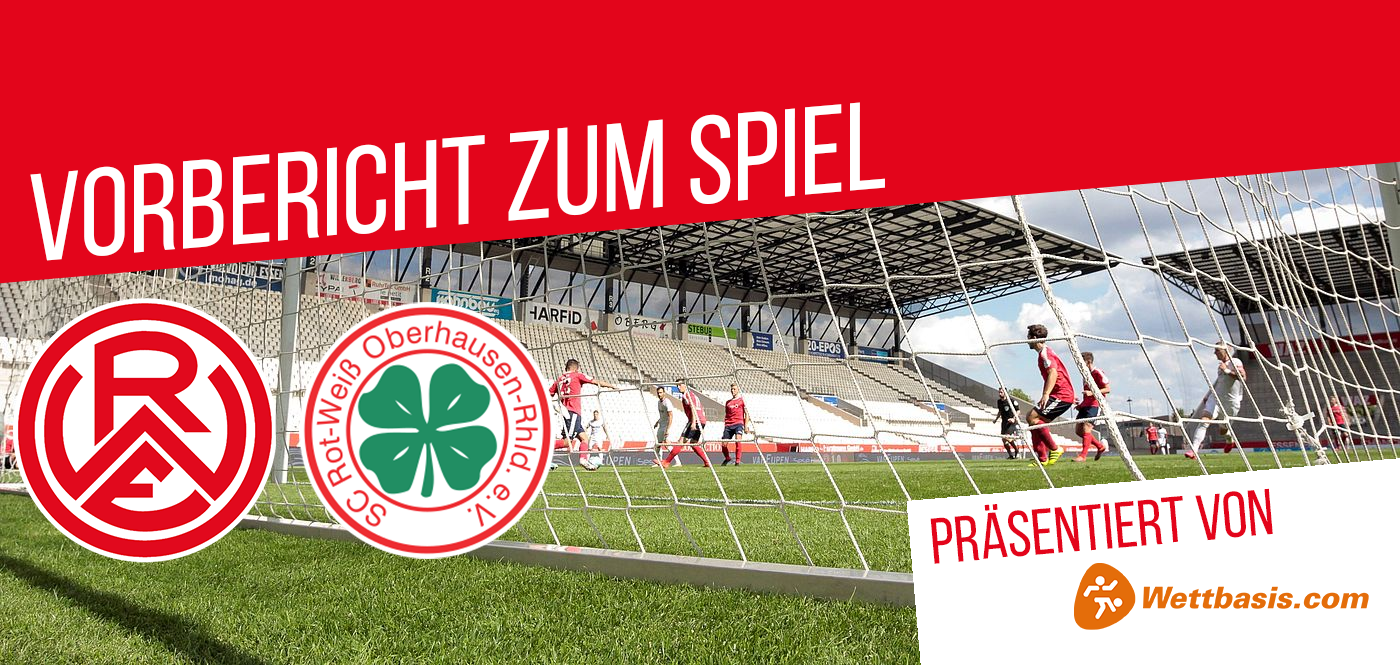 Der Vorbericht zum Spiel Rot-Weiss essen gegen Rot-Weiß Oberhausen wird präsentiert von wettbasis.com.