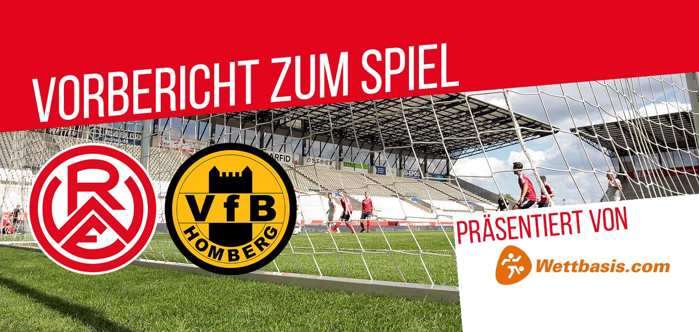 Morgen um 14.00 Uhr empfägt RWE den VfB Homberg zum Heimspiel an der Hafenstraße.