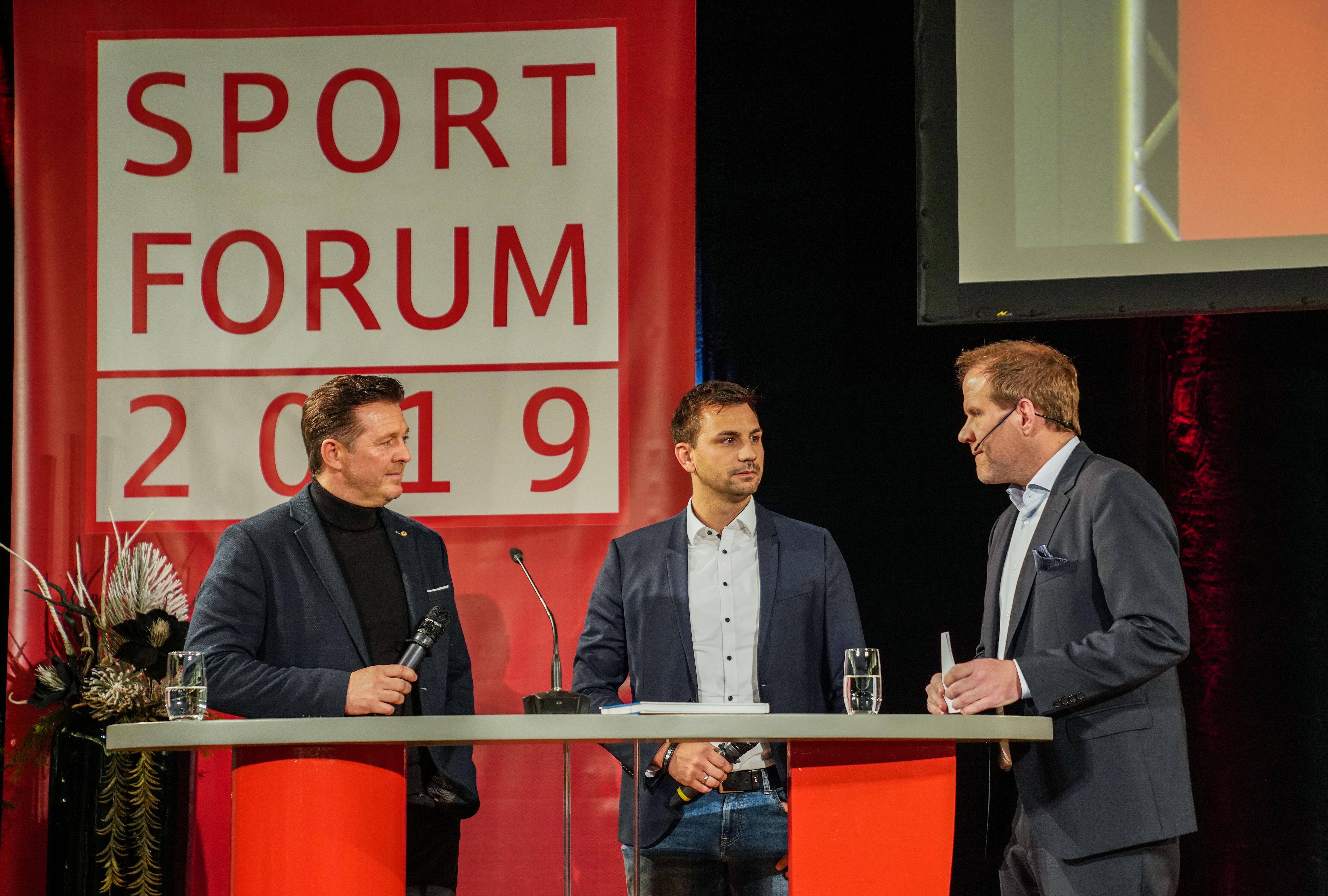 Christian Titz und Jörn Nowak referierten beim Essener Sportforum.