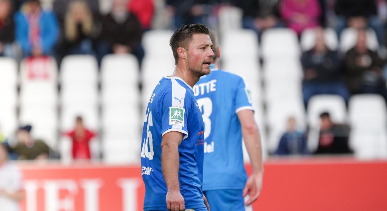 Nicht mehr in Rot-Weiss: EX-RWEler, Timo Brauer läuft seit dem letzten Jahr für die Sportfreunde Lotte auf.
