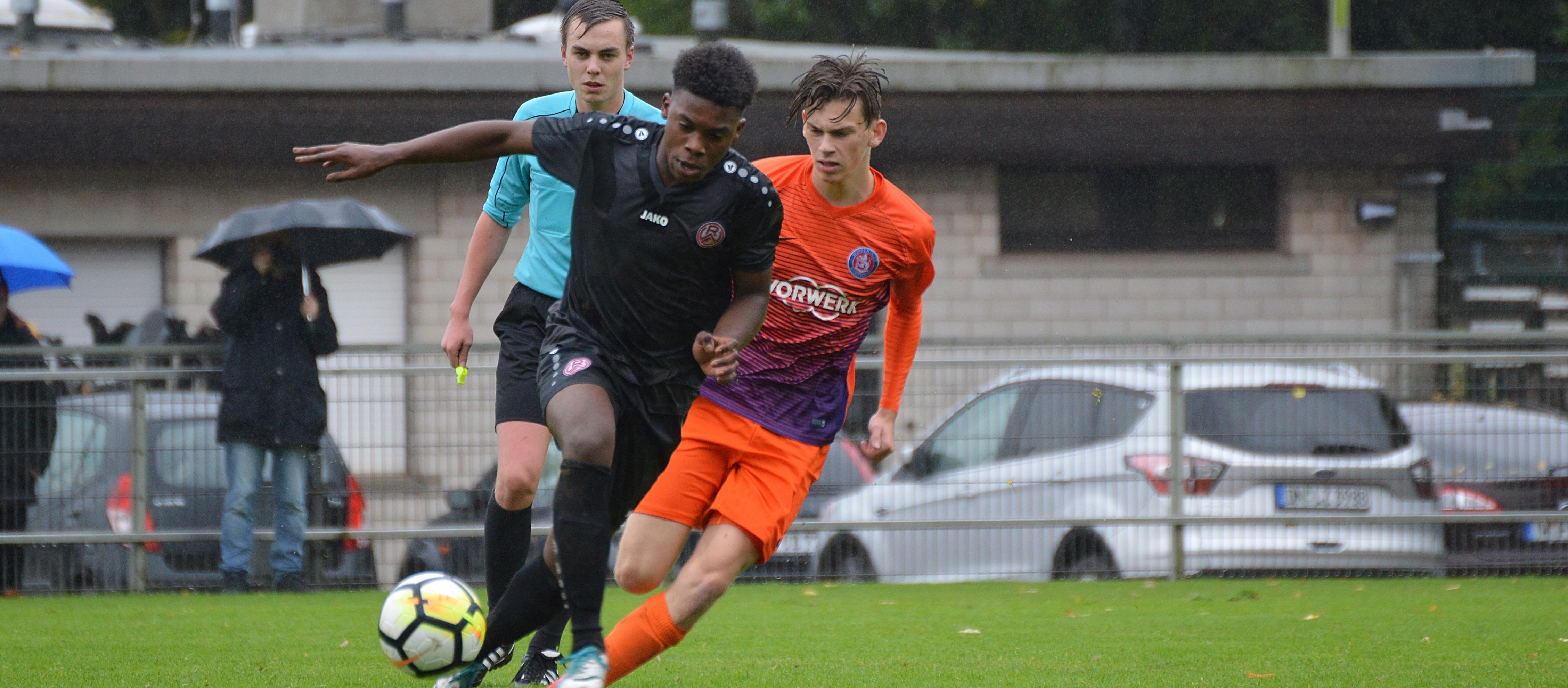 Für die rot-weisse U19 steht am Sonntag das Spitzenspiel gegen den Wuppertaler SV an. (Foto: Skuppin)