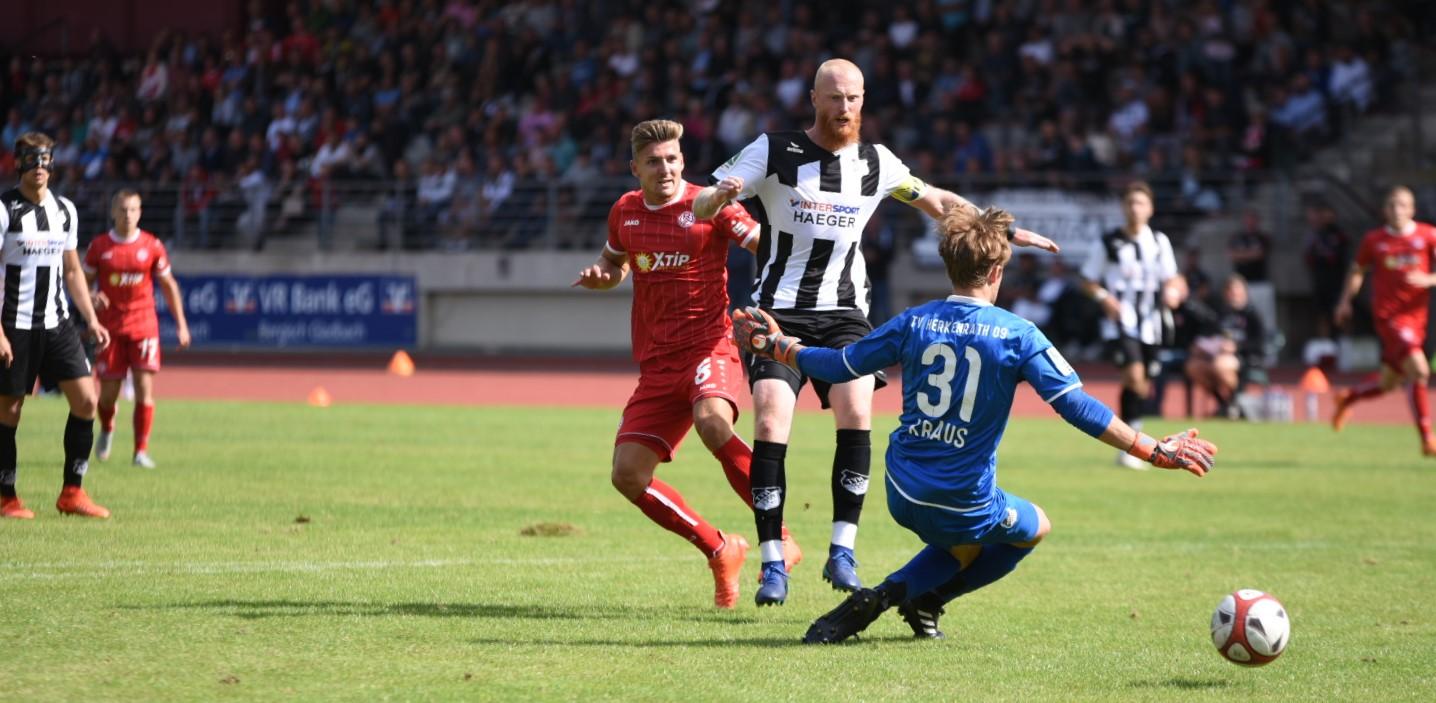 Die Entscheidung: Enzo Wirtz macht mit seinem Treffer den Auswärtsdreier klar. (Foto: Rotzoll)