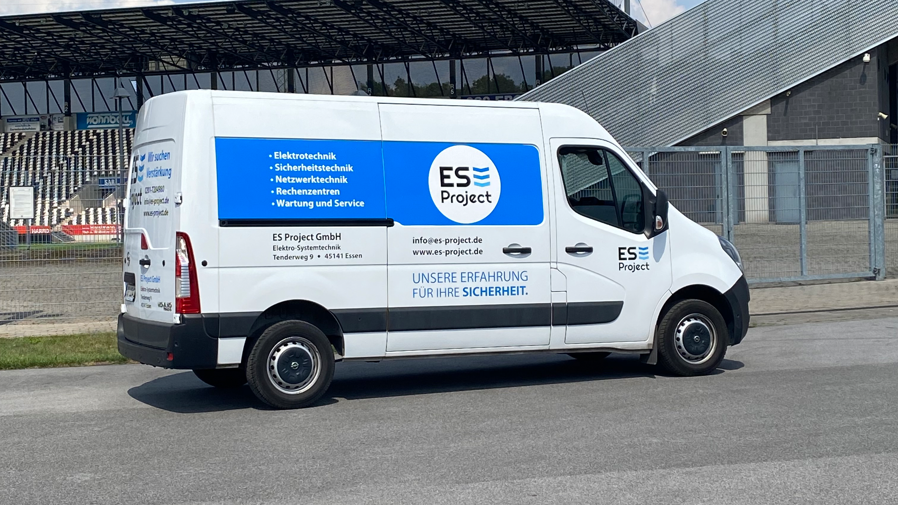 Nur wenige Fahrminuten trennen  die ES Project GmbH vom Stadion Essen. (Foto: ES Project GmbH)