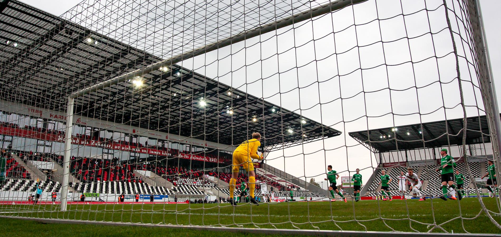 200 mehr als noch am letzten Samstag: Zum Heimspiel gegen RWO werden 500 Zuschauer erlaubt sein. (Foto: Endberg)