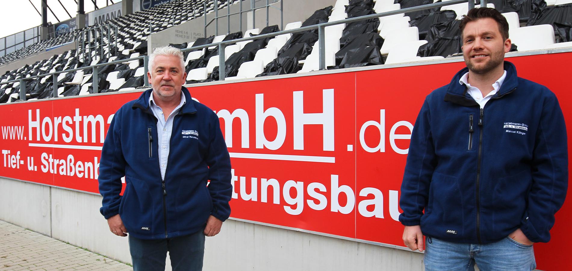 Oliver Horstmann (l.) und Marcel Klinger freuen sich über die weitere Zusammenarbeit mit RWE.